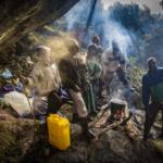 Porters at Nyamileju Rock Shelter