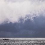 Storm over Cargo Vessel
